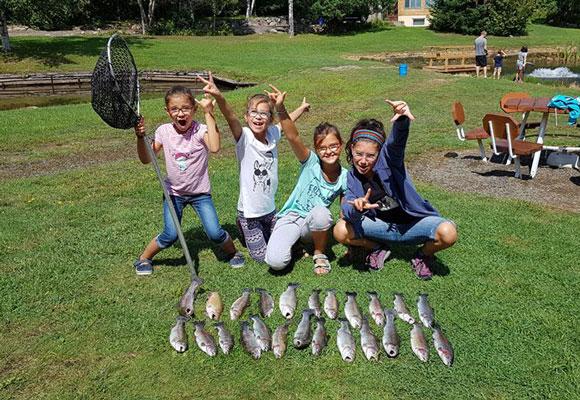 Pêche d'été dans les Laurentides